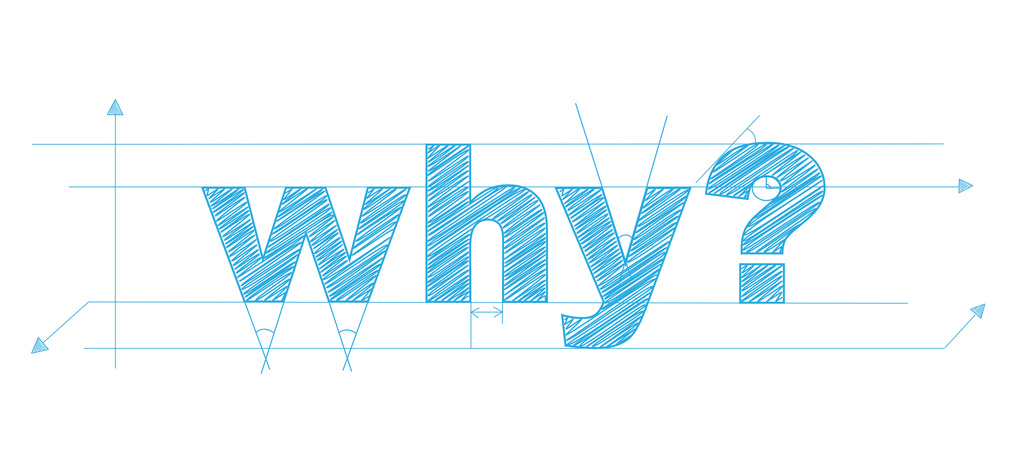 """WHY?"" Vector Overlapping Letters Icon"
